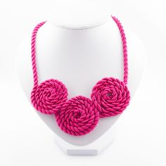 Inspired by the rose as a symbol for beauty and love, we crafted the necklace Roses to give an elegant and chic look to the lady. Silk Satin, Pink Roses, Crochet Necklace, Necklaces, Elegant, Chic, Gold, Crafts, Jewelry