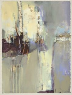 """Contemporary Botanical Abstract Landscape Painting """"Breathing Heaven"""" by Intuitive Artist Joan Fullerton"""