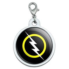 White Lightning Bolt Large Chrome Plated Metal Pet Dog Cat ID Tag ** Continue to the product at the image link.(This is an Amazon affiliate link and I receive a commission for the sales)
