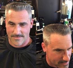 Boxy flattop and moustache Best Hairstyles For Older Men, Mens Hairstyles Fade, Haircuts For Men, Men's Hairstyles, Beard Styles For Men, Hair And Beard Styles, Grey Hair Men, Men Hair, Military Haircuts Men