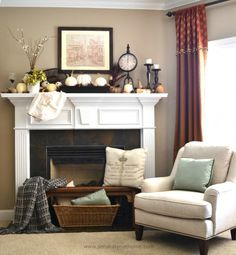 We often focus on the mantel itself, and miss entirely what's down below. So here are 5 Reasons to decorate in front of your fireplace!