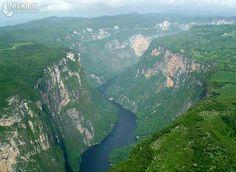 Cañón del Sumidero y Río Grijalva. Chis.