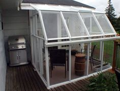 might be a great extension from our garage! Eco SunRoom 20 Lean-To Greenhouse Kit - Acrylic Sunroom Playroom, Sunroom Kits, Sunroom Ideas, Lean To Greenhouse Kits, Home Greenhouse, Greenhouse Ideas, Curved Pergola, Deck With Pergola, Pergola Ideas