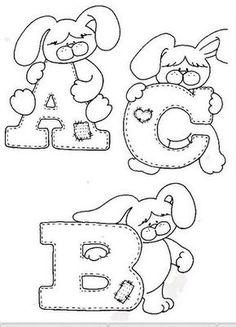 Alfabeto de conejitos para colorear. | Oh my Alfabetos!