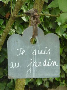 Je suis au jardin …