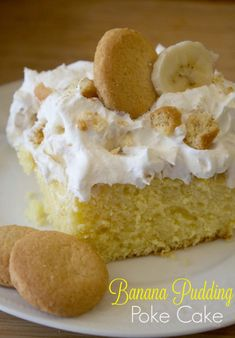 Banana Pudding Poke Cake Recipe. If you love Banana Pudding, you're going to love this Banana Poke Cake. It's one of the best poke cake recipes and great for summer BBQ's.
