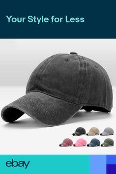 c8ee3749b92c92 Men Plain Washed Cap Style Cotton Adjustable Baseball Cap Blank Solid Hat