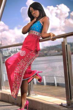 Moda Africana - wow, this is stunning and so is she! African Dresses For Women, African Wear, African Women, Indian Dresses, African Fashion, Ankara Fashion, African Princess, African Design, African Beauty