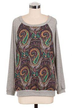 Paisley Print Sweatshirt