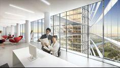 Galeria de Primeiro lugar no concurso das Torres duplas para o Campus de Alta Tecnologia e Pesquisa / KSP Jürgen Engel Architekten - 14