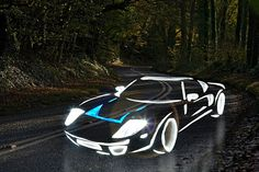 Supercars Painted With LED Lights Continue To Gain Speed.