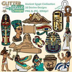 Ancient Egypt Civilization Clipart -