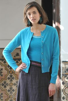 This is a great cardigan! It's slim fitting and not too bulky; I ...