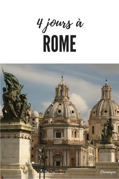 It left for 4 days in Rome, the magnificent capital of Italy! Italy Places To Visit, The Places Youll Go, Voyage Rome, Have A Nice Trip, Trevi Fountain, Europe Destinations, City Break, Packing Tips For Travel, Hawaii Travel