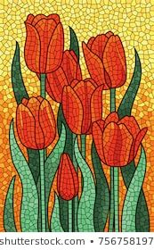 Polygonal vector mosaic with red tulips. – Rabia Özlü Polygonal vector mosaic with red tulips. Polygonal vector mosaic with red tulips. Mosaic Tray, Paper Mosaic, Mosaic Tile Art, Mosaic Artwork, Mosaic Crafts, Mosaic Projects, Mosaic Glass, Glass Wall Art, Stained Glass Art