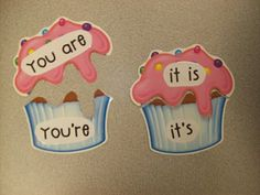 """I used cupcake cut outs (I'm crazy about cut outs!)from the Parent Teacher Store, then glued the words onto them. They are better for making puzzles and games, because they are much thicker than regular paper, so they will hold up longer--which is GREAT! I had a sweet parent cut the icing tops off of each cupcake to make the puzzles.""  Mrs. Cooley   Word Work Freebie"