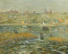 Harlem River, ca. 1913-15, oil on canvas Ernest Lawson