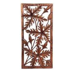 NOVICA Handcrafted Leaf Relief Panel ($65) ❤ liked on Polyvore featuring home, home decor, wall art, brown, relief panels, wall decor, leaf home decor, leaf wall art, handmade home decor and floral wall art