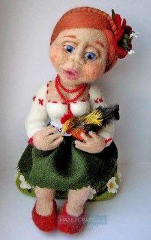 Felted doll, author Svetlana Siryachenko, http://www.livemaster.ru/sirychok