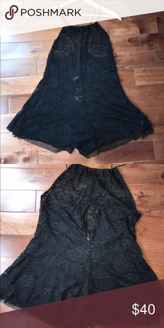Free People lace romper Lace romper (very sheer, needs slip) great for going out or a fancy dinner Free People Pants Jumpsuits & Rompers