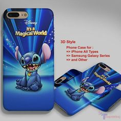 Lilo & Stitch Magical Disney Magical World - Personalized iPhone 7 Case, iPhone 6/6S Plus, 5 5S SE, 7S Plus, Samsung Galaxy S5 S6 S7 S8 Case, and Other