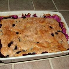Dessert: Yummy Blueberry Cobbler