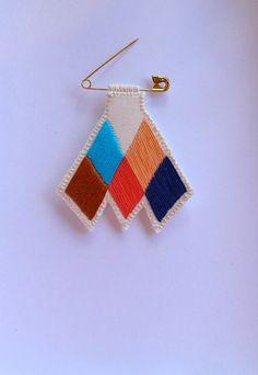 Tuareg inspired brooch chevron diamond badge por AnAstridEndeavor