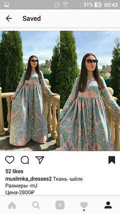 Islamic Fashion, Muslim Fashion, Modest Fashion, Fashion Dresses, I Dress, Dress Outfits, Modele Hijab, Salwar Designs, Muslim Dress