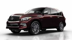 """2018 Infiniti QX80 This will be my """"mommy"""" car' lol white with matte black rims ❤️"""