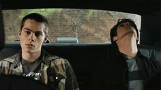 I love this gif. Chillin in the back of a police cruiser and are they worried? Nope, just bored :)