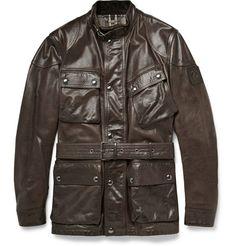 Brown Belstaff RoadMaster Leather Jacket | Seen here --> StyleSocietyGuyBlog.com