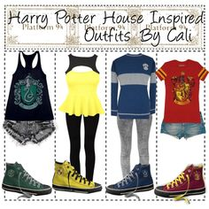 """""""Harry Potter House Inspired Outfits"""" by thetipstersisters on Polyvore"""