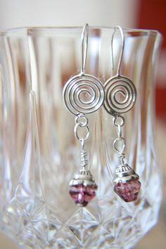 Rose Beaded Dangle Earrings by artistrybyannie on Etsy, $15.00