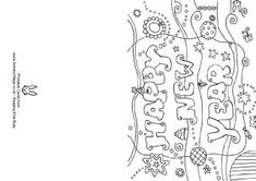 New Year colouring cards