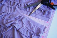 sewing with pre-ruffled fabric