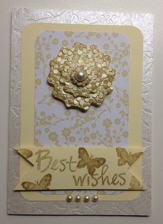 Classic, elegant. textured greeting card in neutral shades