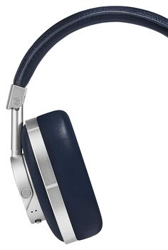 Master & Dynamic Premium High Definition Bluetooth Wireless Over-Ear Headphone - Navy/Silver Wireless Headphones, Over Ear Headphones, Bluetooth, Silver, Leather, Accessories, Electronics, Shoes, Amazon