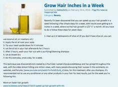 not really going to make hair grow longer, but a good treatment plan for those of us who are a bit...  overdyed.