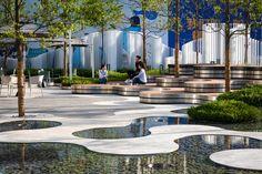 Gallery of Hyperlane Linear Sky Park / ASPECT Studios - 14 Chinese Buildings, Chinese Architecture, Landscape Architecture, Chengdu, Organic Forms, Landscape Plaza, Parque Linear, Plaza Design, Studios Architecture