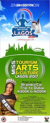 PRESS RELEASE: Preparation for Miss Tourism Lagos 2017 begins!!    MLK Events & Promotions kicks-off preparation for the 2017 edition of Miss Tourism Arts & Culture Lagos Beauty Pageant which holds on Sunday25th April 2017. @sheraton hotel ikeja Lagos state.  According to the Director of Programmes MR AYO AFOLAMI  the pageant promises to eclipse the first edition as the winners will walk away with fantastic prizes and other benefits which includes; Empowerment and Skill development…