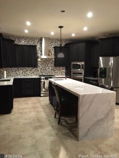 Cambria Britanicca kitchen counter tops with a water fall edging. Kitchen Dining, Kitchen Island, Dining Room, Timber Benchtop, Waterfall Counter, Counter Tops, Kitchen Countertops, Islands, Fountain