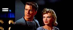 Forbidden Planet - Leslie Neilson was a VERY handsome young man.  He got kinda stupid when he got older but still looked pretty good