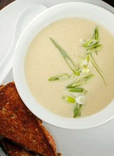 Honeycrisp Apple and Parsnip Soup. I just made this and it was too sweet--next time I'll either use vegetable broth instead of the sparkling wine or change out one of the apples for another parsnip.