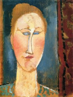 Amedeo Modigliani - Woman's Head with Red Hair