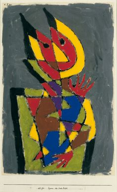 Paul Klee (1879-1940) Figurine des bunten Teufels - Figurine of the Colourful Devil (1927) tempera on paper mounted on card 46.7 × 30.5 cm Franz Marc Museum, Kochel am See, Germany