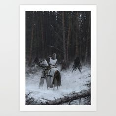 Samogitia 1409 Greeting Card by Jakub Rozalski - Set of 3 Folded Cards x Canvas Prints, Art Prints, Diy Frame, Folded Cards, High Quality Images, Printing Process, Vibrant Colors, Gallery Wall, Stationery