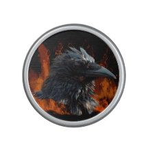 Raven and Flames Fantasy Design Speaker