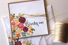 Mini Blooms Revisited: Thanks So Much Card by Heather Nichols for Papertrey Ink (March 2015)