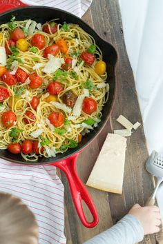 Roasted Tomato and Garlic Spaghetti - Nourish and Fete