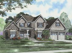 Instant Street Appeal - 59355ND | Craftsman, Traditional, 1st Floor Master Suite, Bonus Room, CAD Available, Den-Office-Library-Study, MBR Sitting Area, Media-Game-Home Theater, PDF | Architectural Designs
